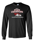 AHS Baseball 2017 State Championship Black LS T-shirt - FRONT DESIGN ONLY