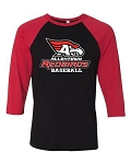 AHS Baseball - Unisex Three Quarter Sleeve Baseball Tee with Logo (3 Colors Available)