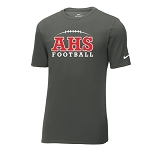 AHS Football - Nike Core Cotton Tee - Anthracite