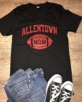 AHS Football Mom Glitterflake V-neck T-shirt