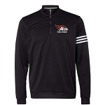 Adidas Climalite 3-Stripes French Terry Quarter-Zip Pullover with AHS logo