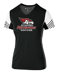 AHS Boys Soccer - Ladies V Neck Short Sleeve Moisture Wick Arc Shirt with Logo