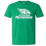 AHS Spiritwear - Softstyle Heather Irish Green Short Sleeve Tshirt with logo
