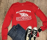 AHS Football - University Red Nike Core Cotton Long Sleeve T Shirt