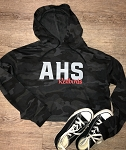 AHS Redbirds Lightweight Camo Cropped Hooded Sweatshirt