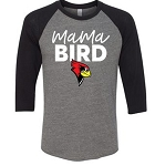 Allentown Redbirds Softball -  Mama Bird Bella 3/4 Sleeve Baseball Tee