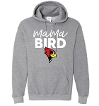 Allentown Redbirds Softball -  Mama Bird Bella Gildan Hooded Sweatshirt