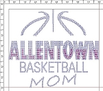 Allentown Basketball Ladies Rhinestone Long Sleeve T-shirt