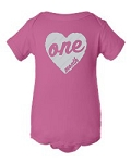 Monthly Onesie Set with Heart Design