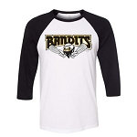 Bandits Apparel- Unisex Three Quarter Sleeve Baseball Tee with Logo