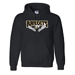 Bandits Apparel- Dry Blend Hooded Sweatshirt with Logo