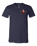 Central Elementary - Teacher Apparel - Bella Short Sleeve V Neck - Navy