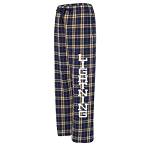 CJL -  Boxercraft Flannel Pants - Navy with Pockets and Team Logo