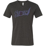 Central Jersey Storm Apparel - Bella Short Sleeve V Neck TShirt with Rhinestone Logo