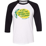 Chittick Elementary - Bella 3/4 Sleeve Baseball T-shirt - Lemonade