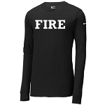 Fire Apparel - Black Nike Core Cotton Long Sleeve Tee
