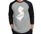 NJ Home - Vintage Fine Jersey Three-Quarter Sleeve Baseball T-Shirt