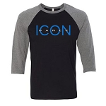 Icon Dance - Bella Canvas Unisex Three-Quarter Sleeve Baseball Tee