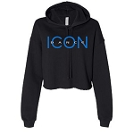 Icon Dance - Bella Canvas Women's Cropped Hooded