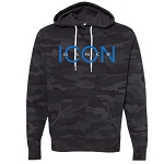 Icon Dance - Independent Trading - Unisex Lightweight Hooded Black Camo Sweatshirt