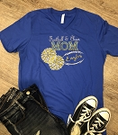 Inspired Apparel - Bella Tee with Football & Cheer Mom in Glitter
