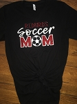 Inspired Apparel - Bella Tee with Redbirds Soccer Mom in Glitter