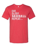 Eat Sleep Baseball Repeat Tee