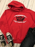 Inspired Apparel - Football Mom Hooded Sweatshirt