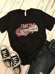 Inspired Apparel - Bella Tee with Redbirds Cheer Mom in Glitter