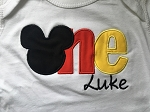 Personalized Mickey Mouse First Birthday Shirt