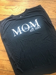 Inspired Apparel -Mom/Grandma Personalized With Metallic/Glitter Design Bella Women's Flowy Tee with Rolled Cuffs