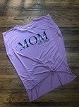 Inspired Apparel - Mom/Grandma Personalized Bella Women's Flowy Tee with Rolled Cuffs