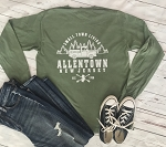 Allentown NJ - Small Town Living Garment Dyed Long Sleeve T-Shirt