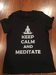 Keep Calm and Meditate Glitterflake Bella Tee