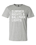 Summer Nights Ballpark Lights Tee