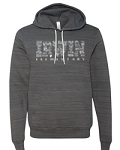 Irwin Elementary-Bella + Canvas - Unisex Hooded Sweatshirt in Charcoal Marble