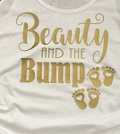 Inspired Maternity Apparel - Beauty and The Bump Short Sleeve T-Shirt
