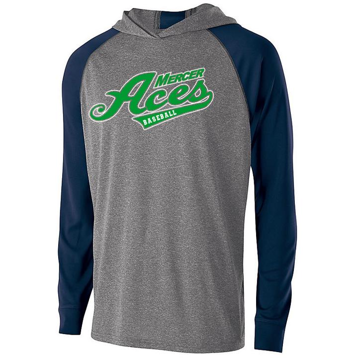 7719b2e85a7 Mercer Aces Apparel - Echo Long Sleeve Hooded