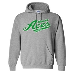 Mercer Aces Apparel- Dry Blend Hooded Sweatshirt with Logo