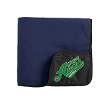 Mercer Aces - Port Authority® Fleece & Poly Travel Blanket with Logo