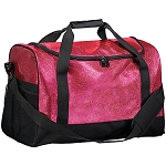 Millstone Dance - Augusta All Out Glitter Duffel with logo embroidered