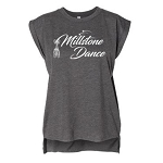 Millstone Dance - Bella Women's Flowy Muscle Tee with Rolled Cuff