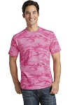 Millstone Dance - Port & Company Core Cotton Pink Camo Tee with logo