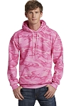 Millstone Dance - Port & Company Core Fleece Pink Camo Pullover Hooded Sweatshirt with silk screen logo full image