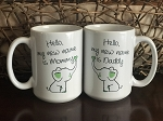 New Mommy and Daddy Mugs 15oz.- Set of 2