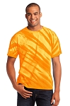 New Hanover Spiritwear - Tiger Stripe Tie Dye T-Shirt with Logo