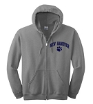 New Hanover Spiritwear- New Hanover Full Zip Hooded Sweatshirt- Sports Grey