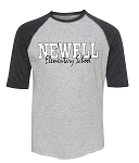 Newell Elementary - Vintage Fine Jersey Three-Quarter Sleeve Baseball T-Shirt