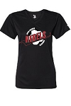 Rebels Soccer T-Shirt - Ladies Dry Core V-Neck Tee