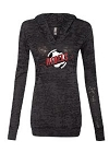 Rebels Soccer Long Sleeve Hooded Burnout Shirt